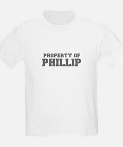 PROPERTY OF PHILLIP-Fre gray 600 T-Shirt
