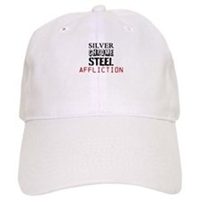 silver chrome steel affliction Baseball Baseball Cap