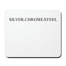 silver chrome steel Mousepad