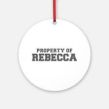 PROPERTY OF REBECCA-Fre gray 600 Ornament (Round)