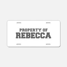 PROPERTY OF REBECCA-Fre gray 600 Aluminum License