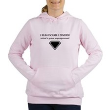 i run double divers Women's Hooded Sweatshirt
