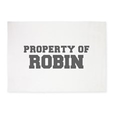 PROPERTY OF ROBIN-Fre gray 600 5'x7'Area Rug