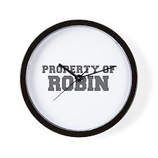 PROPERTY OF ROBIN-Fre gray 600 Wall Clock