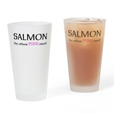 salmon the other pink meat Drinking Glass