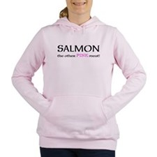 salmon the other pink meat Women's Hooded Sweatshi