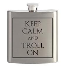 Keep Calm and Troll On Flask