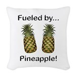 Fueled by Pineapple Woven Throw Pillow