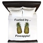Fueled by Pineapple King Duvet