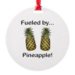 Fueled by Pineapple Round Ornament