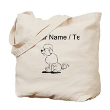 Custom Poodle Wagging Tail Tote Bag