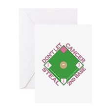 Don't Let Cancer Steal 2nd Base Greeting Card