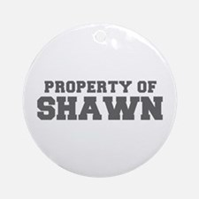 PROPERTY OF SHAWN-Fre gray 600 Ornament (Round)