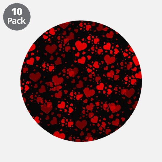 """red hearts 3.5"""" Button (10 pack)"""
