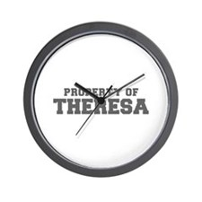 PROPERTY OF THERESA-Fre gray 600 Wall Clock