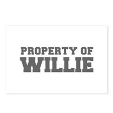 PROPERTY OF WILLIE-Fre gray 600 Postcards (Package