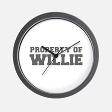 PROPERTY OF WILLIE-Fre gray 600 Wall Clock