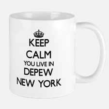 Keep calm you live in Depew New York Mugs