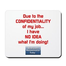 Confidential Job Mousepad - S2