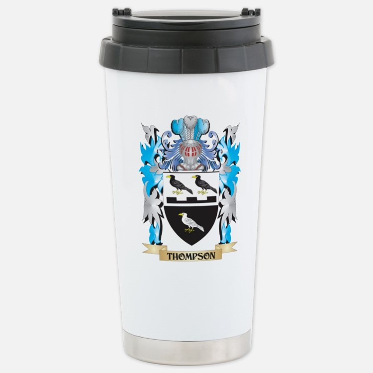Thompson Coat of Arms - Stainless Steel Travel Mug