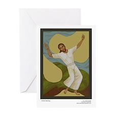 Christ Dancing SINGLE Card