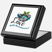 Love Builds The Warmest Nest Keepsake Box