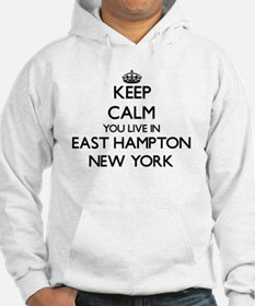 Keep calm you live in East Hampt Hoodie