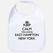 Keep calm you live in East Hampton New York Bib