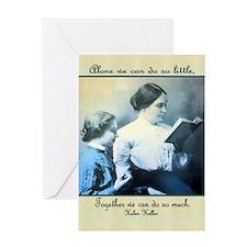 Helen Keller Greeting Card