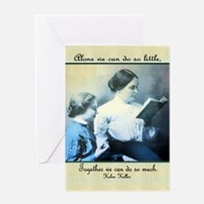 Helen Keller Greeting Card