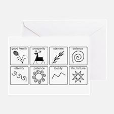 Pysanka Symbols Greeting Card