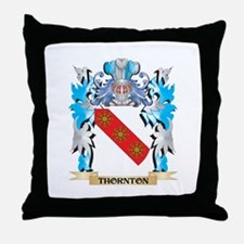 Thornton Coat of Arms - Family Crest Throw Pillow