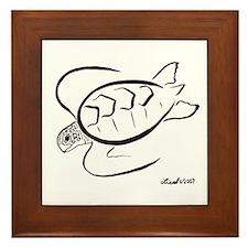 Sea Turtle Framed Tile