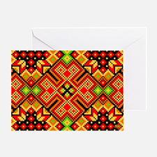 Folk Design 4 Greeting Card