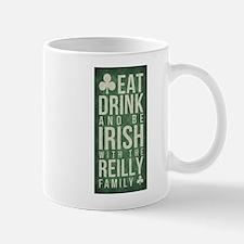eat, drink, Irish, Reilly Mugs