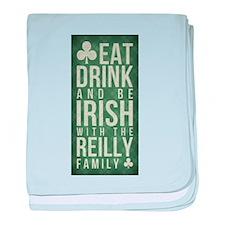 eat, drink, Irish, Reilly baby blanket