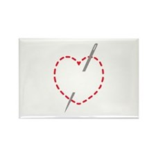 Stitched Heart With Needle Magnets