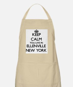 Keep calm you live in Ellenville New York Apron