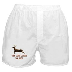 The Lord guides my shot Boxer Shorts