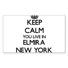 Keep calm you live in Elmira New York Decal