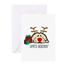 Life's Golden Rudolph Greeting Cards (Pk of 20)