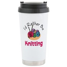 Cute Knit and crochet Travel Mug
