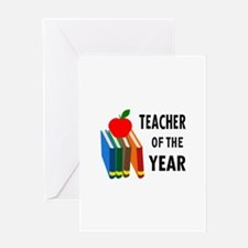 teacher of the year Greeting Cards