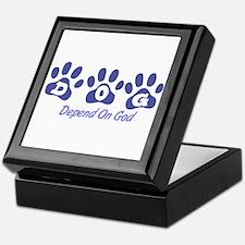 Blue DOG Keepsake Box