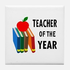 teacher of the year Tile Coaster