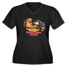 Best Wieners Dachshund Dogs Women's Plus Size V-Ne