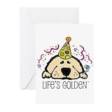 Golden retriever Greeting Cards (20 Pack)