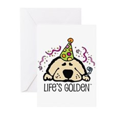 New Year's Golden Greeting Cards (Pk of 20)