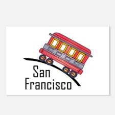 san francisco trolley Postcards (Package of 8)