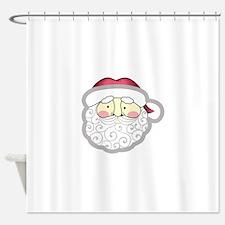SANTA CLAUS APPLIQUE Shower Curtain
